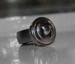 RVS Ring maat 17,5 (breedte: 8mm, dikte: 2mm) (excl. klik)