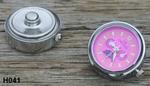 Horlogeklik rose (fel) (H041)