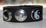 Armband 21 cm zwart (NBNL216) (excl. kliks)