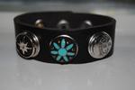 Armband 23 cm zwart (NBNL320) (excl. kliks)