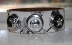 Armband 23 cm wit met bloemenmotief (NBNL323) (excl. kliks)