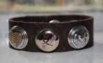 Armband 23 cm donkerbruin (NBNL273) (excl. kliks)