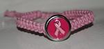 Armband van touw, roze (B565-951C) (excl. klik)