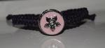 Armband van touw, paars (B565-951) (excl. klik)