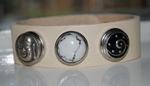 Armband 23 cm creme (NBNL326) (excl. kliks)