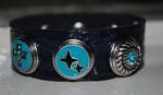Armband 24 cm donkerblauw/zart (NBNL193) (excl. kliks)